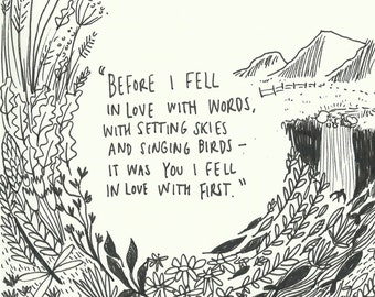 A4 Love Quote Print