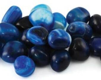 1b Blue Onyx Tumbled Stone