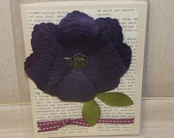 Textured flower card