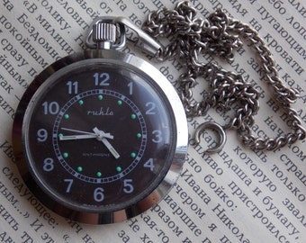 Rare vintage mechanical pocket watch. RUHLA watch GDR.