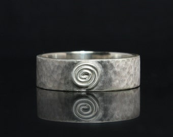 Hammered Sterling Silver ring -- Handmade unique ring