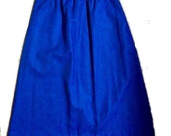 Royal Blue A-Line Skirt