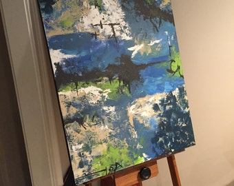 Original Abstract MADE TO ORDER Painting Commission Acrylic on Canvas by Erin Deebel