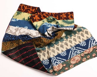 Cotton Double layered both sided patch work Bandanas