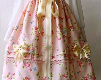 Sweet lolita Rock SK mit Blumenprint in rosa