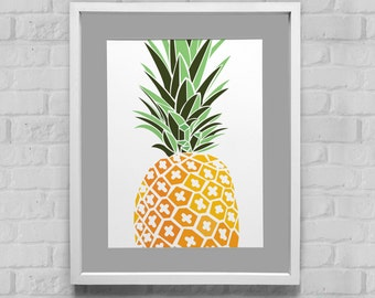 Pineapple Instant Download Wall Art 8x10/11x14