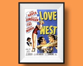 Vintage Movie Poster Print - 'Love Nest'