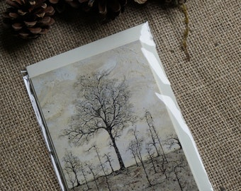 The Chestnute Tree blank gift card A6