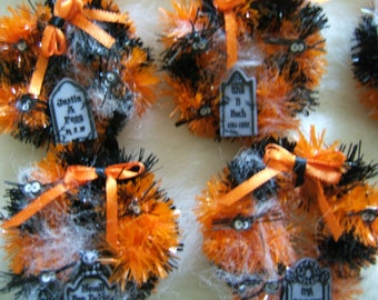 Halloween Dollhouse Miniature Cemetery Holiday Wreath