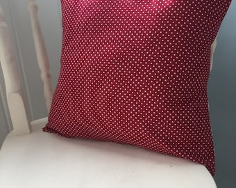 Homemade Red Polkadot Cushion