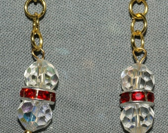 Vintage Crystal and Gold Earrings