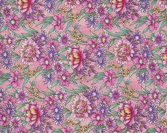 100 % Cotton Fabric ~ Amelia's Garden ~ Benartex ~ 1.5 Yards