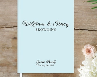 Wedding Guest Book, Custom Personalized Guest Book, 8x10 Vintage Wedding Guestbook, Guest Book Keepsake