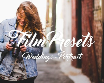 Film Lightroom Presets - 35 Beautiful presets for Weddings & Portraits.