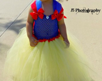 Snow White tutu dress, Disney Princess tutu dress, 1st birthday tutu, Disney trip outfit, Pageant dress
