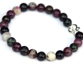 Genuine tourmaline bracelet - semi precious gemstones - healing jewelry