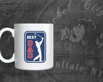 Best Dad Golfing Fathers Day 11 oz. Mug
