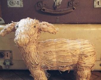 Cow straw handmade Vintage