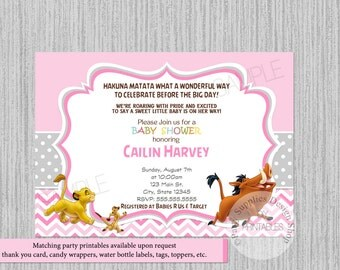 Baby simba lion king baby shower invitations simba baby lion king baby shower invitations simba its a girl baby shower invitations animal print filmwisefo Choice Image