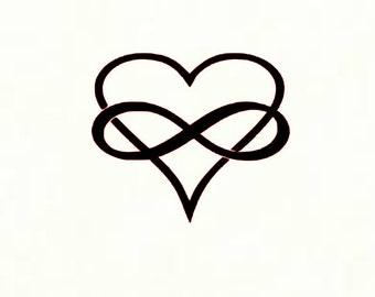 Infinity Heart Decal