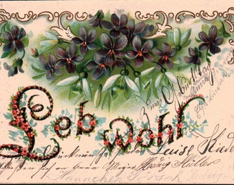 Leb Wohl Postcard Dated 1902 Berlin Germany