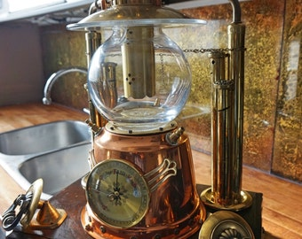 Industrial Art Machine Age Table Lamp Steampunk
