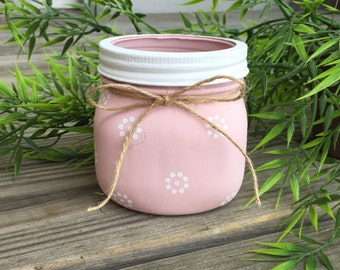 Small Flower Soy Candle- 100% Natural Soy Wax & Essential Oils