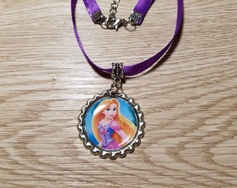 10 Lavender Necklaces Party Favors. Rapunzel