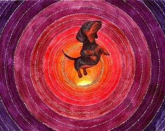 dachshund art print , dachshund print , dog art , dachshund gif , dachshund painting , dachshund wall art , dog art print , dachshund artwor