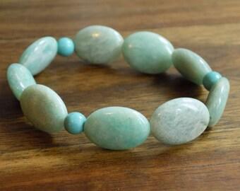 Amazonite and Turquoise bracelet/wrist mala