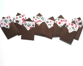 Christmas mini cards, holiday gift tags, cookie tray cards, card enclosures, elf notes, stocking stuffers, blank mini cards,
