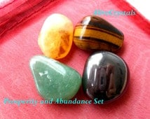 Crystals Healing Set Healing Crystal Gems, Citrine Crystal, Tigers Eye, Hematite, Aventurine Crystals for Money, Prosperity, Abundance, Luck