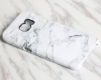 White Marble Samsung Galaxy S7 Case S8 case Samsung S6 Edge Plus Case Galaxy S6 Edge S6 S5 S4 Case Gift Woman Man Anniversary  KB-0876