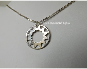 Necklace style sterling silver rose / unique Piece, handcrafted