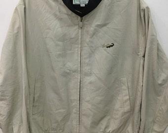 Vintage 90's Crocodile Light Brown Classic Design Skate Sweat Shirt Sweater Varsity Jacket Size M #C5