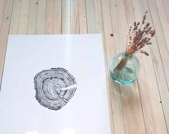 Original Print of Small Spruce Tree, Home Decor, Wall Art