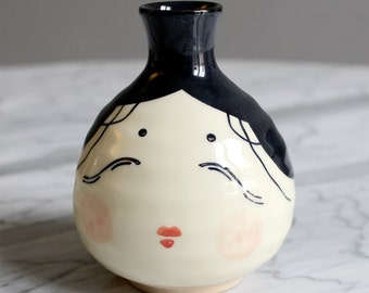 Bottle of sake Japanese ceramic decorative object