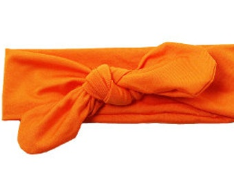 Orange Top Knot Headband