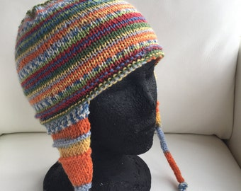 Colorful Hand Knit Hat