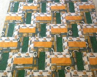 Green Bay Packers rail fence quilt