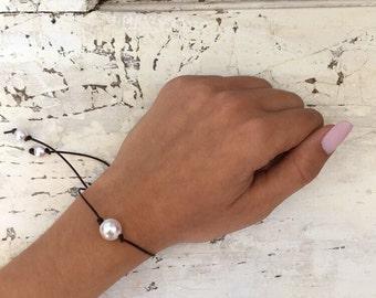 Dark Brown Pearl Bracelet