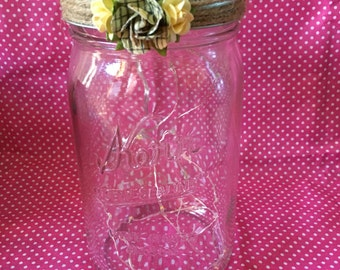 Mason jar string light lantern