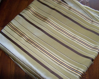 Brown Striped Fabric