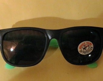 Vintage Rubber Framed New Sunglasses with U.V. Protection, Classic 80's