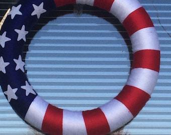 Americana Yarn Wreath