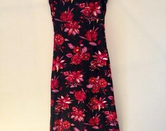 Dark floral maxi dress