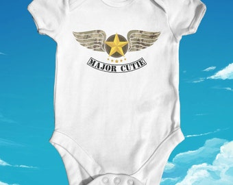 Major Cutie baby bodysuit | baby shower gift | cute baby clothes | newborn baby clothes | funny baby bodysuit | Soldier baby bodysuit