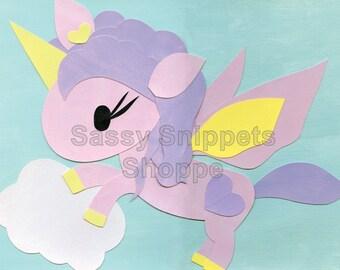 Cloud Unicorn Cardstock Print