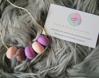 Silicone Beads 'Grape Goddess' and 'Miss Minty' Necklaces