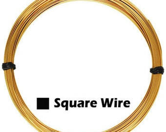 Gold Filled Square Wire 1oz. - Free Shipping - Choose Size